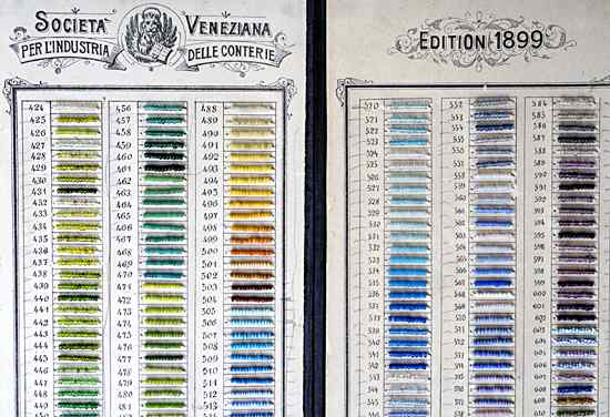Trade Beads on Pre-1900 Sample Cards